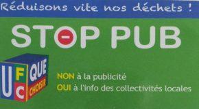 Communiqué de presse – Face au flot grandissant, le Stop pub